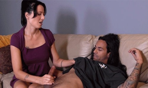 zoey holloway jerking off a guy